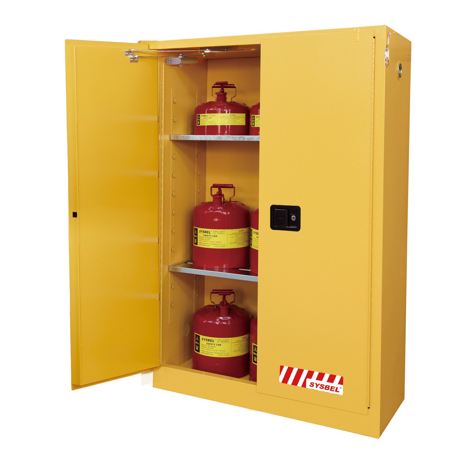 SD45170F 170L SYSBEL Flammable Cabinet Self Closing