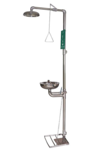 combination emergency shower