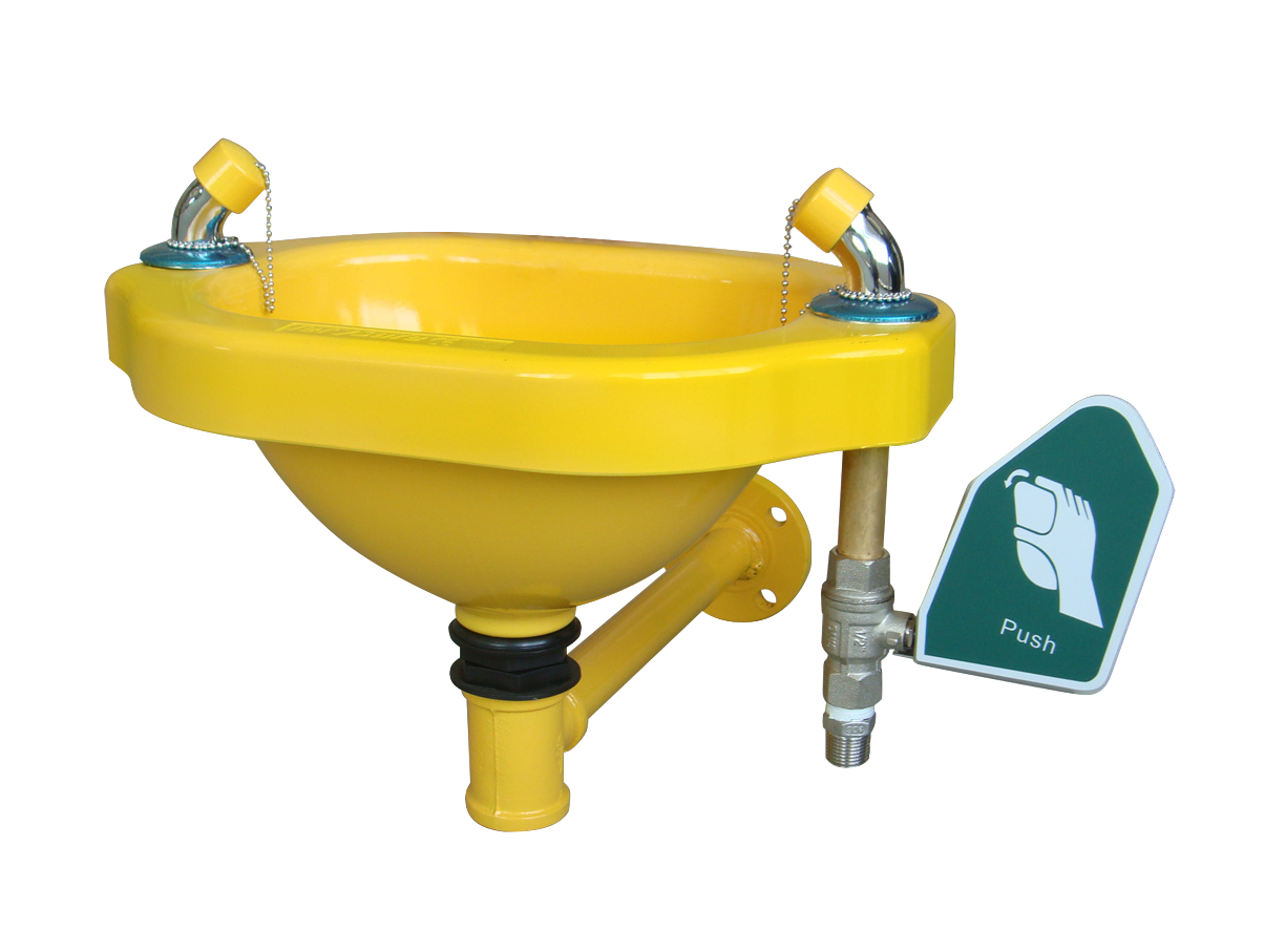 Delivering eyewash stations and combination showers in Africa