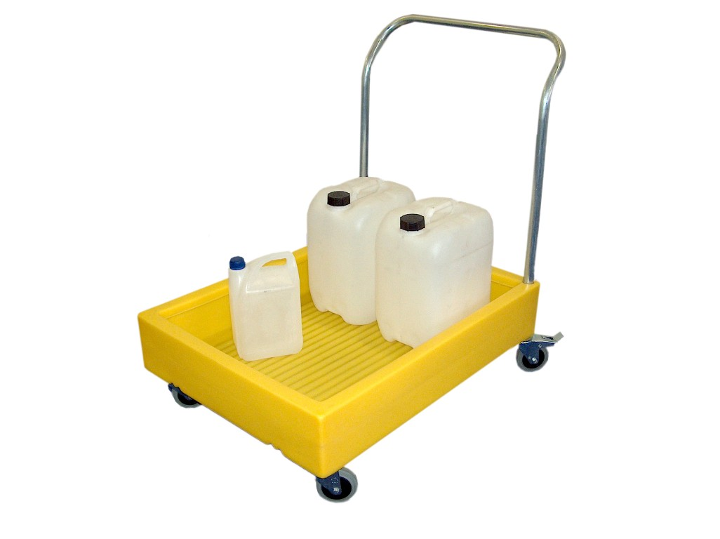 Lightweight drum trolleys with chemical resistance